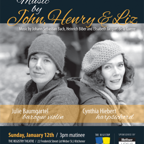 "Cynthia Hiebert and Julia Baumgartel play ""Awkward Waltz"" in Kitchener, Ontario on January 12th"
